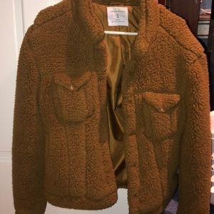 Like new urban outfitters teddy coat. Medium.
